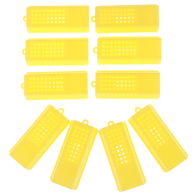 10 Pcs/lot Professional Queen Bee Cage Catcher Plastic Beekeeping Travelling Butler 7.9 x 3.6 x 1.4cm