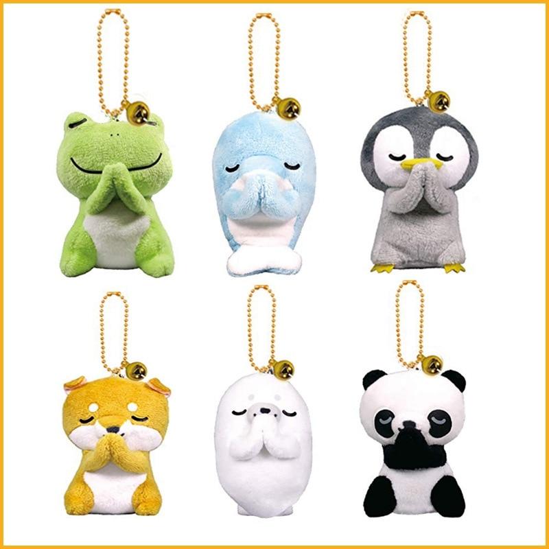 Kids Toy Peluche Stuffed Animals Plush Toy Frog Panda Penguin Dolphin Akita Dog Sea Soft Toys For Children Stuffed Plush Animals