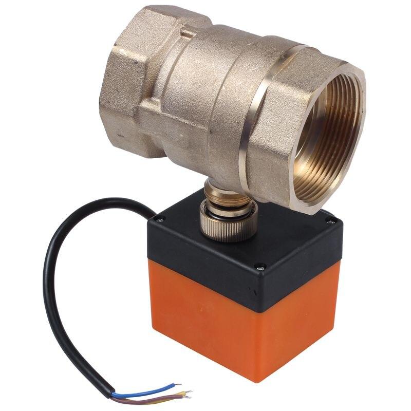 التيار المتناوب 220 فولت G2 Dn50 2-Way 3-Wire 2-Point التحكم النحاس الكهربائية صمام كروي مزود بمحرك