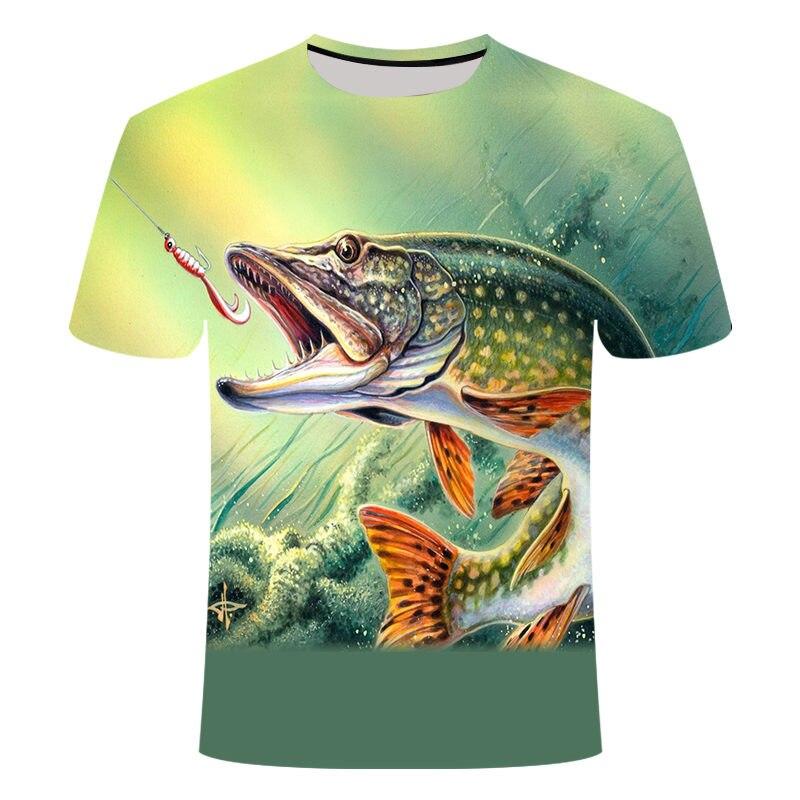 Camiseta pesca estilo casual e digital unissex, camiseta estampada 3d para homens e mulheres, manga curta, gola redonda, novo, 2019 & tees S-6XL