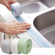 3.2m*2.2cm Bathroom Shower Sink Bath Sealing Strip Tape White PVC Self adhesive Waterproof Wall sticker for Bathroom Kitchen