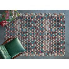 Apex Azura 5 x 8 microfibre marron/tapis multi-zones