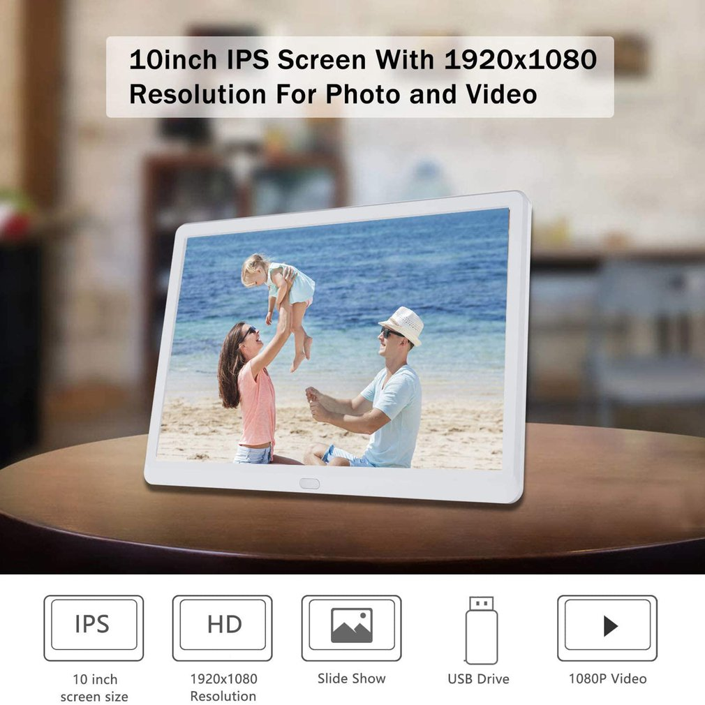 10 Inch LED Digital Photo Electronic Album Frame With Automatic Slideshow And True Color LCD Display Video Playing