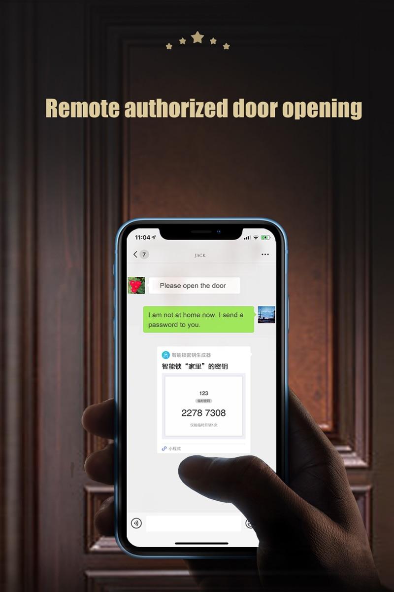 Anti- theft intelligent keyless electronic security handle smart outdoor tuya WiFi  double sided  fingerprint door lock