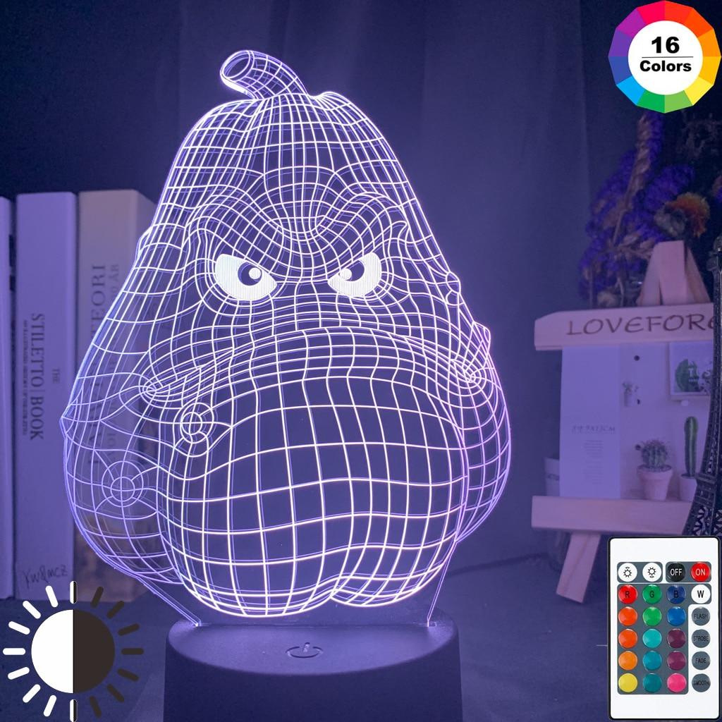 Plantas Vs. Zombies cabeza de batata ilusión 3d holograma Led luz de noche para decoración de Bedoom fresco niños Mesa 3d lámpara de regalo