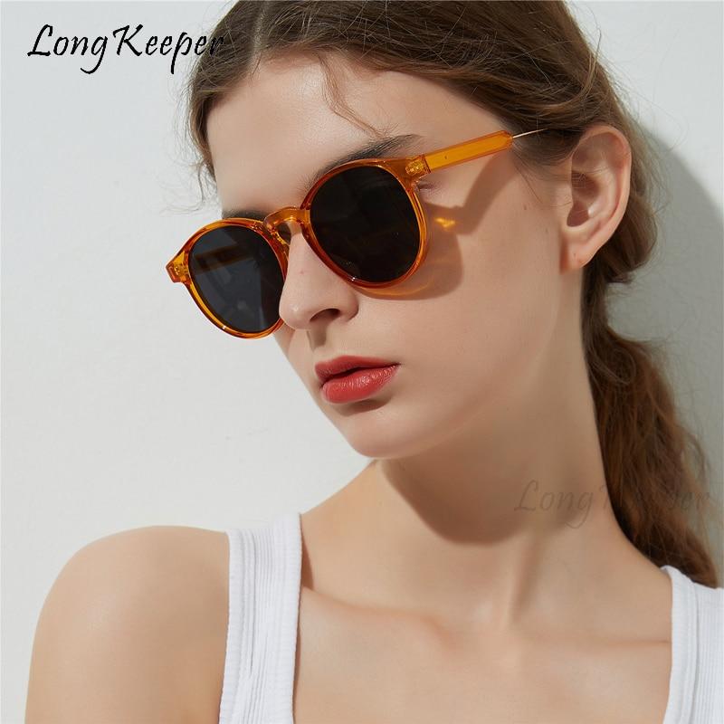 2020 marca designer redondo óculos de sol feminino tendência produtos unissex óculos de sol feminino leopardo transparente círculo