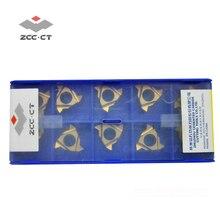 10 pièces ZCCCT outil de tournage filetage insérer LT16.01W-G60P main gauche externe 60 degrés pas général filetage tour outils cutter