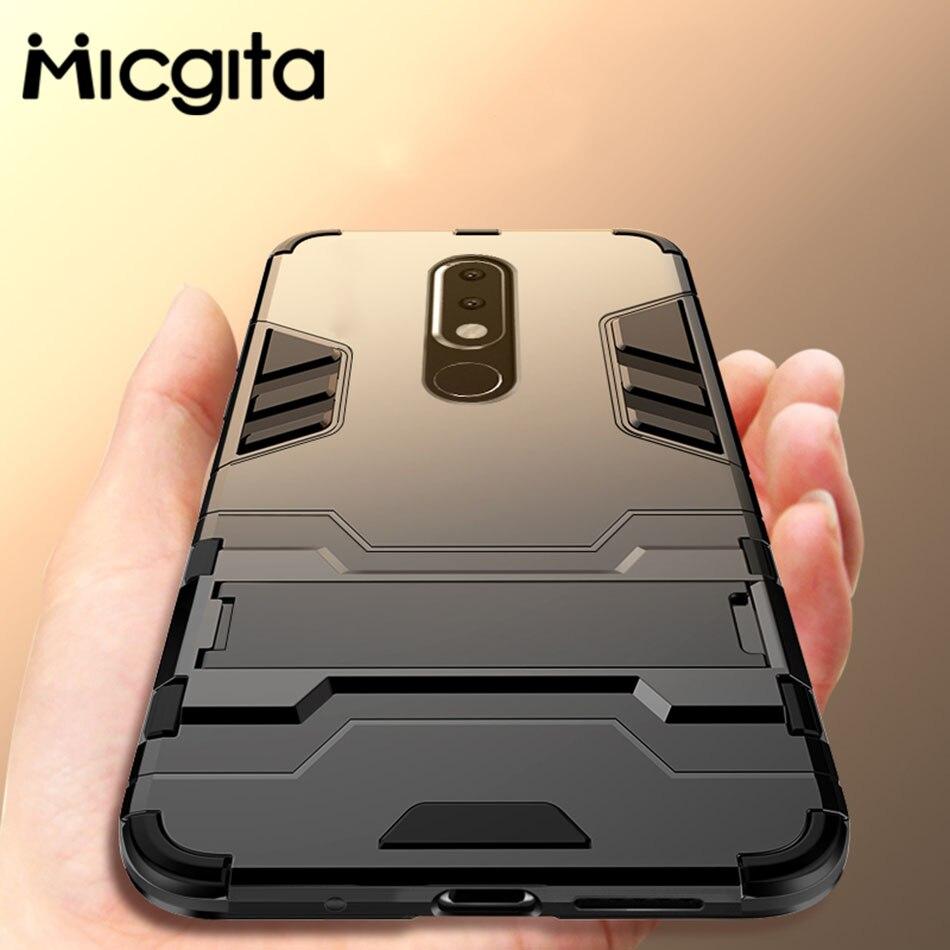 Kickstand Case For Nokia 6.1 2.1 8.1 7.1 Plus Nokia 5 6 7 8 2 3 X5 X6 X7 Hybrid Shockproof Silicone Case For Nokia 7 Plus 6 2018