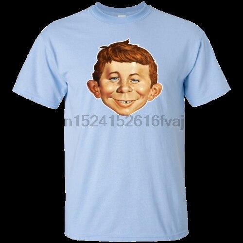 Alfred E Camiseta divertida de la mascota de la comedia Retro loco de Neuman Newman