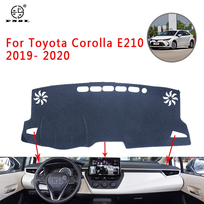 Alfombrilla para salpicadero de coche PNSL alfombrilla para salpicadero para Toyota Corolla E210 2019-2020 protección solar antideslizante antiuv