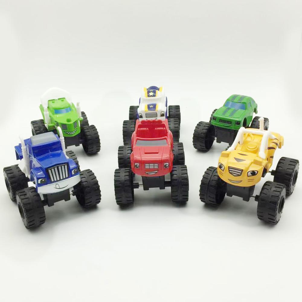 6 unids/lote Blaze autos milagrosos monstruo máquinas Rusia juguetes blaze vehículo coche juguetes regalos para bebé