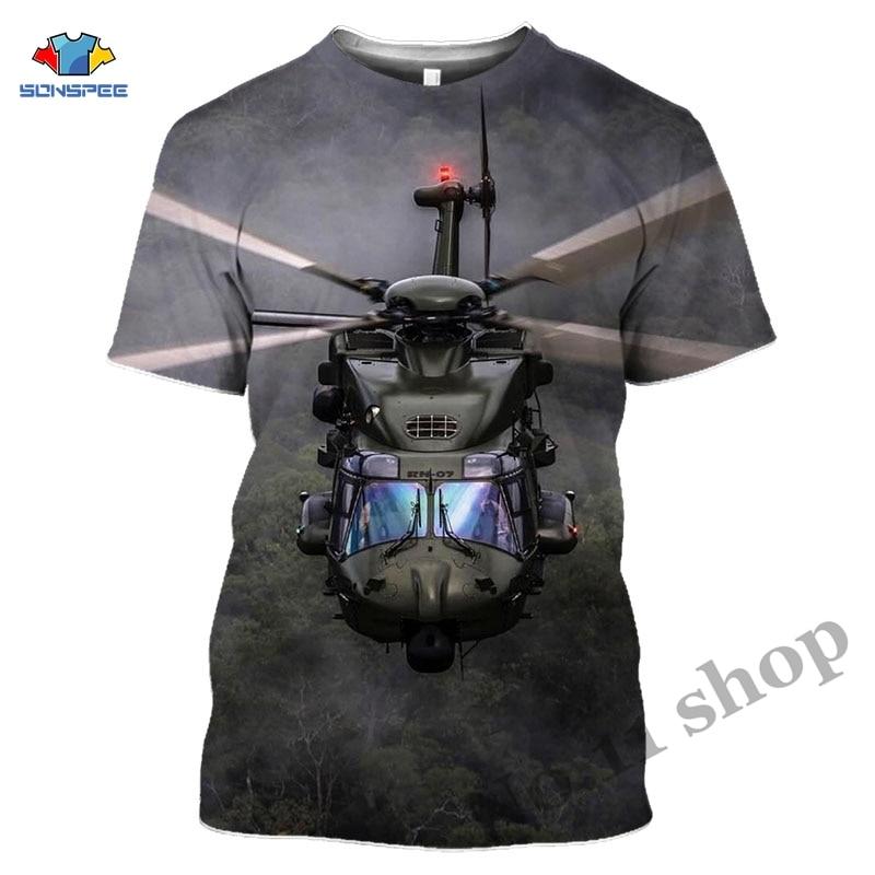 aliexpress.com - Helicopter T-shirt Harajuku 3D print Man Woman Clothes Hip Hop T Shirt Aircraft Short Sleeve Plane Set Shirt Streetwear Pullover