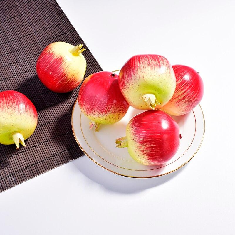 Casa mezcla decorativa fruta Artificial manzana pera naranja frutas falsas niños enseñanza capacitiva SIDA fruta EVA plástico tienda pantalla
