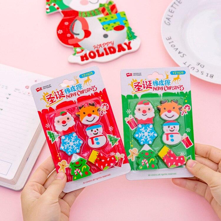 Juego de regalo bonito para niños con borradores de lápices Kawaii de 60 piezas