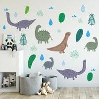 lovely dinosaur wall sticker boy kids room bedroom decor aesthetic animal wallstickers nursery decoration art pegatinas de pared