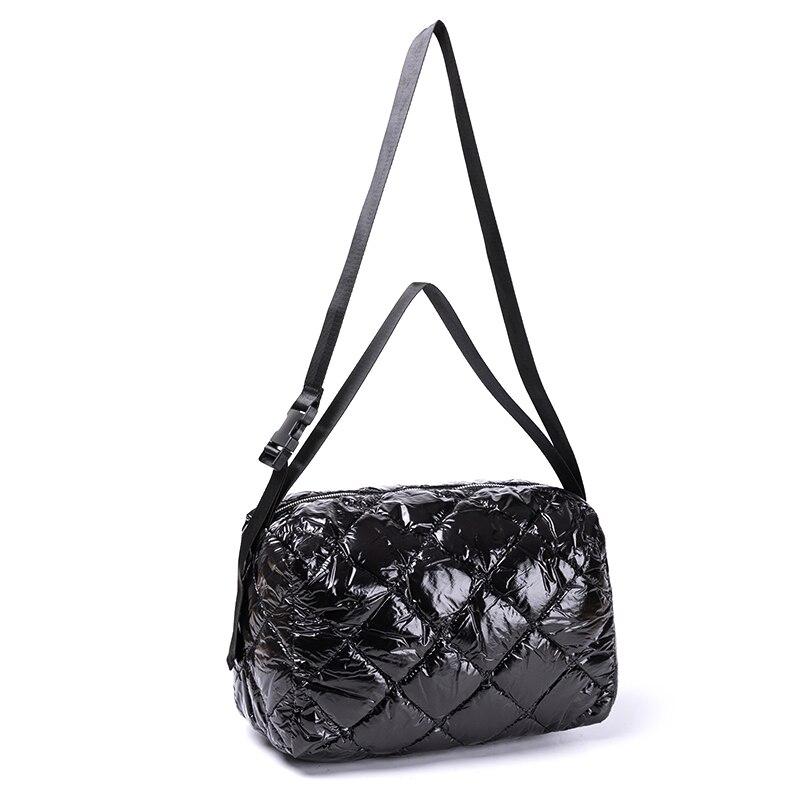 Tamara Women Cotton Feather Down Bag Fashion Crossbody Messenger Bag Handbag Space Pad Winter Soft Space Cotton Shoulder Tote