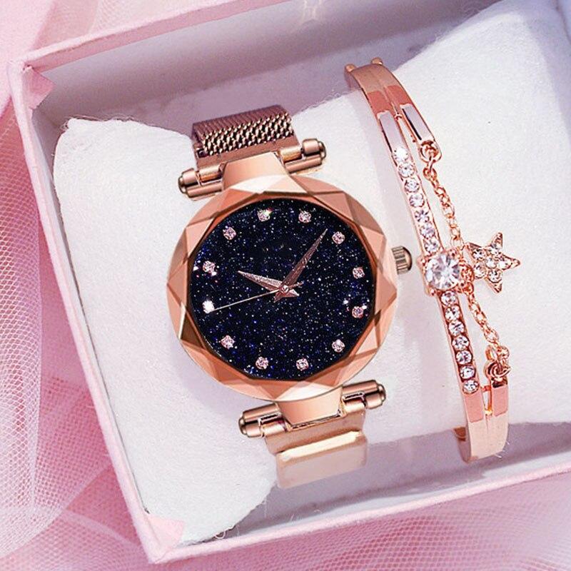 2019 Luxury Diamond Women Watches For Ladies Magnetic Starry Sky Clock Female Quartz Wrist Watch relogio feminino zegarek damski