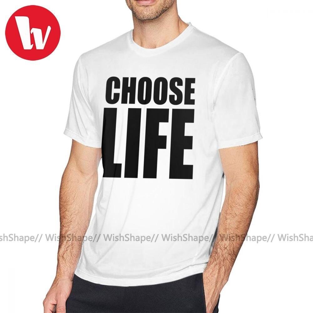Джорджа Майкла футболка CHOOSE LIFE WHAM Футболка с принтом Пляжная футболка свободные милые мужской короткий рукав 100 хлопковая футболка