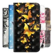 Etui portefeuille à rabat en cuir de luxe pour Alcatel A3 Pixi 4 (5) U5 4G 1X 3C Dual 3V 3X 5 ShineLite Coque de protection Fundas