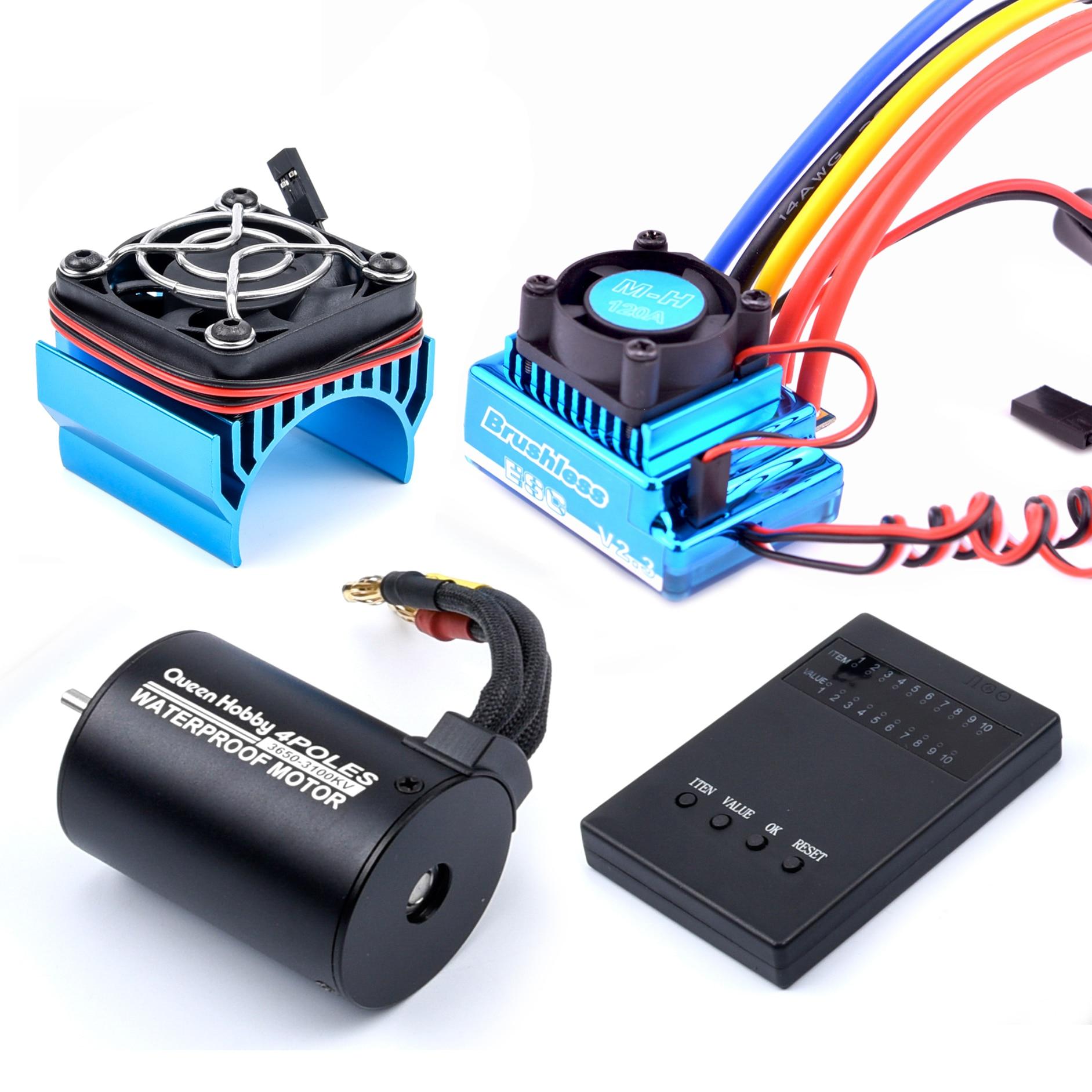 3650 2300KV / 3100KV / 3900KV / 4300KV / 5200KV Brushless Motor & 45A 60A 80A 120A ESC Combo for 1:1