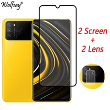 Full Cover Tempered Glass For Xiaomi Poco M3 Screen Protector For Xiaomi Poco M3 Camera Glass For Xi