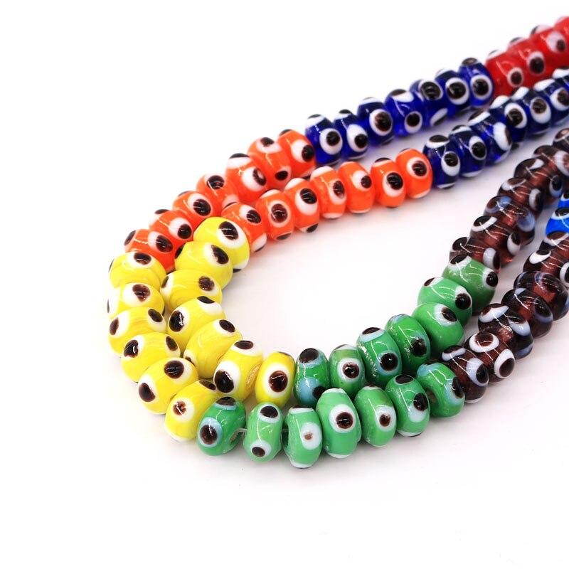 Großhandel Mischfarben 10mm 10 stücke Kristall Farbige glasur Glas Perlen Lose Spacer Runde Perlen für Schmuck Machen