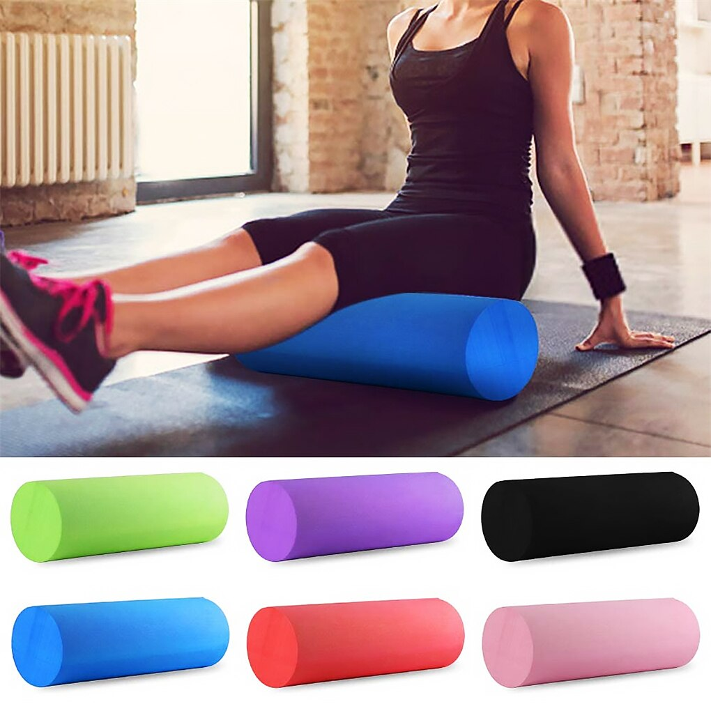 Yoga Pilates bloque de rodillos gimnasio en casa Fitness masaje relajación espuma EVA rodillo columna herramienta de Yoga, azul