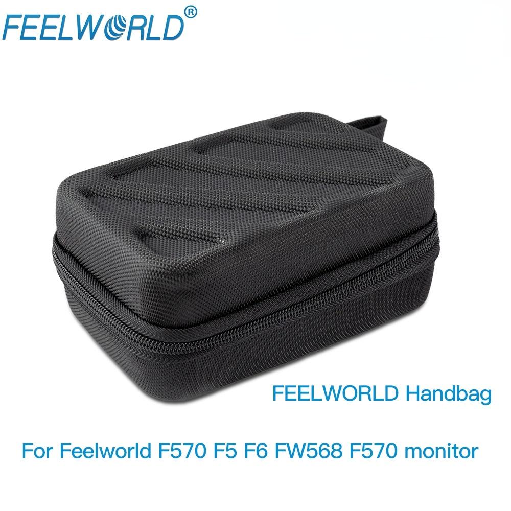 Портативная сумка FEELWORLD для монитора полевой камеры F5 FW568 F570 F6, черная сумка для фотооборудования, чехол для переноски монитора