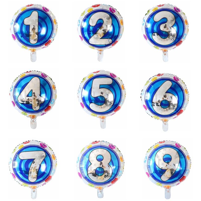 50 Uds 18 pulgadas de cumpleaños globos helio globo número 0-9 Feliz cumpleaños boda fiesta decoraciones para baby Shower cifras globo