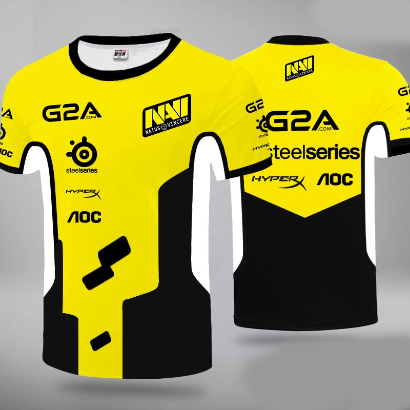 Natus Vincere Navi T-Shirt 3D Game Player Cs-Go Match Uniform High Quality Short Sleeve Shirt E-Sports Club Sports Leisure Large майка классическая printio natus vincere na vi – illustration black