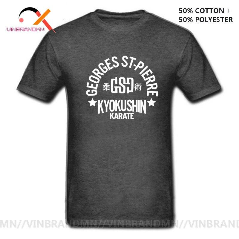Jiu jitsu treinamento camiseta brasileiro kyokushin karate camisa bjj t camisa de algodão dos homens t camisa de verão georges st-pierre t personalizado