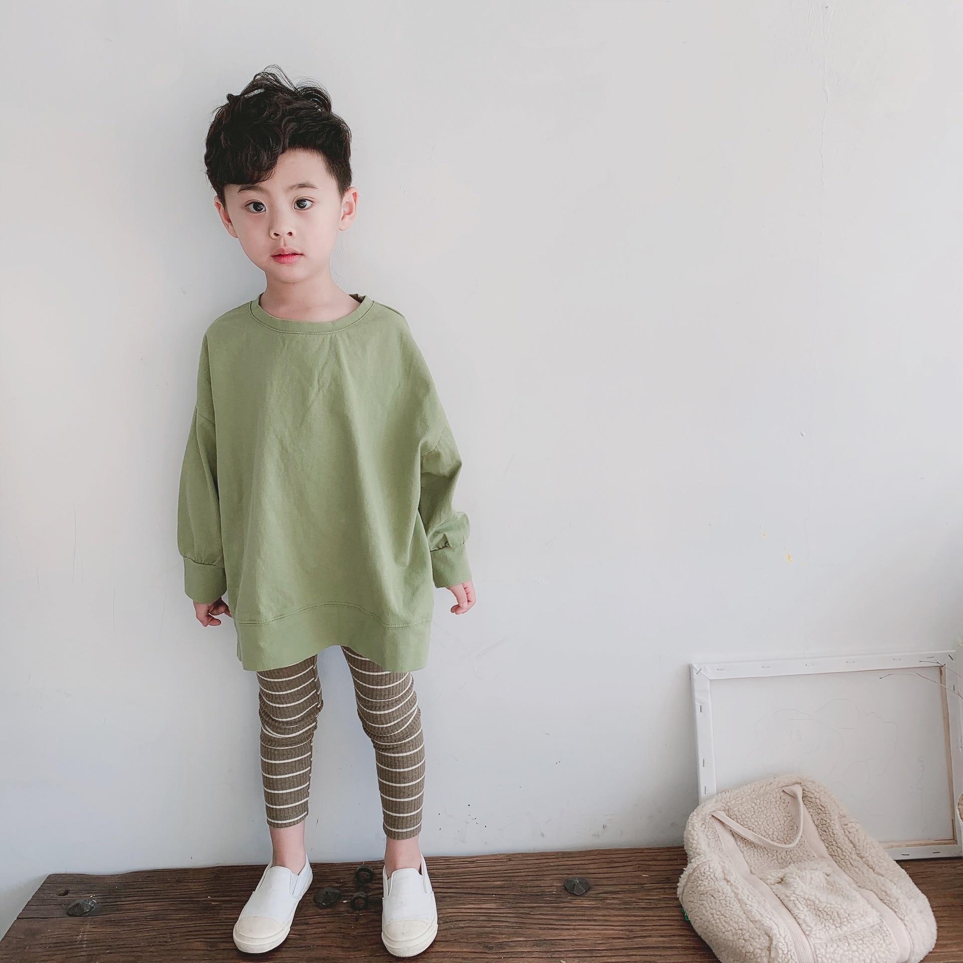 Primavera niño niña ropa camiseta manga larga pinkycolor dulce algodón cuello redondo algodón Casual moda