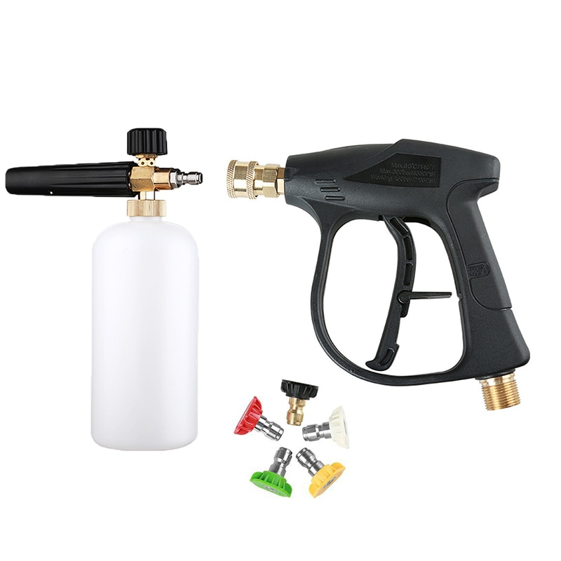 For Car Washer Water Gun Cleaning Tools,with5Color Nozzles M22 Hose Connector ,1L Car Washer Jet Adj