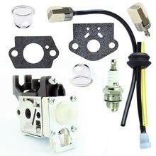 8Pcs Kit Para Echo HCR-161ES HRC-171ES Aparador de grama Carburador Zama RB-K92 RB-K92A