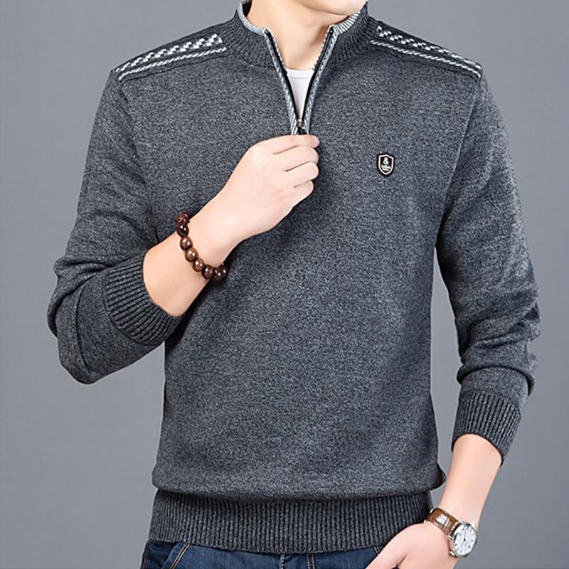 M-3XL осень-зима мужской свитер Мужская водолазка однотонный Повседневный свитер Мужские приталенные брендовые вязаные пуловеры