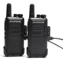 2 Pcs Baofeng BFC9 BF-C9  Mini Walkie Talkie bf-888s UHF Band USB fast charge Handheld 2 Way Ham cb Radio Communicator