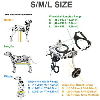 Pet Wheelchair / Paralyzed Pet Wheelchair / General Paralysis Dog Scooter / Disabled Dog Rehabilitation Wheelchchair S/M/L SIZE
