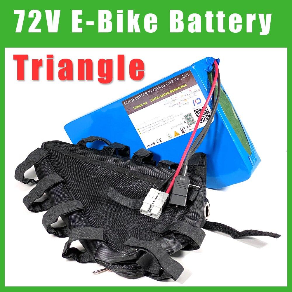 72V 40AH Dreieck Tasche Roller Elektrische fahrrad lithium-batterie 2000W 3000W 72V Batterie Pack