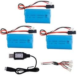 7.4v 1500mah lipo bateria com carregador usb para bg1518 bg1513 bg1515 bg1507 bg1506 1/12 2.4g de alta velocidade rc caminhão brinquedos acessórios