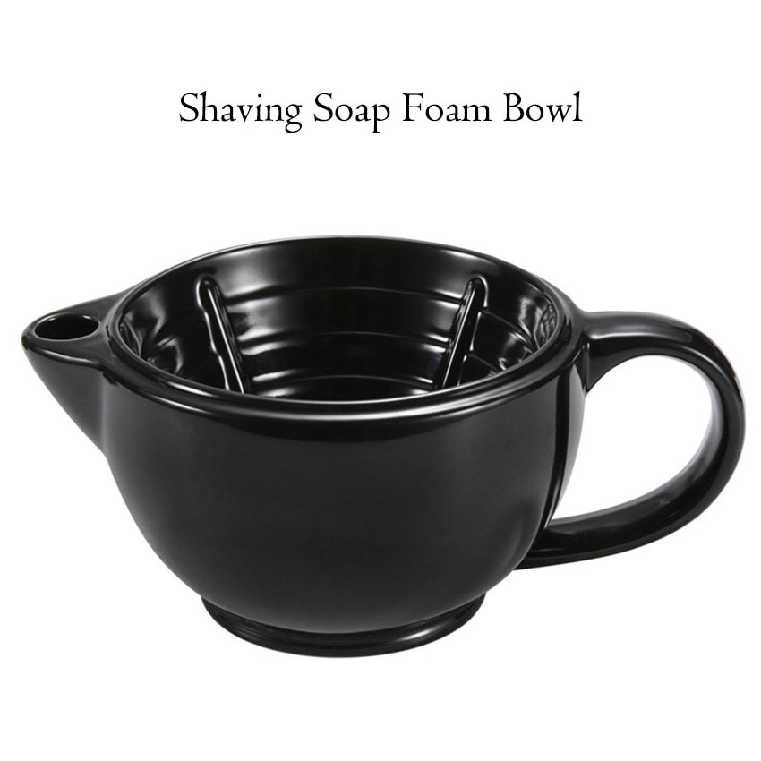 1 Set Shaving Bowl Funnel Plug Kit Thermal Insulation Shaving Soap Foam Bowls Filled Hot Water Foam Bowl Shaving Accessories