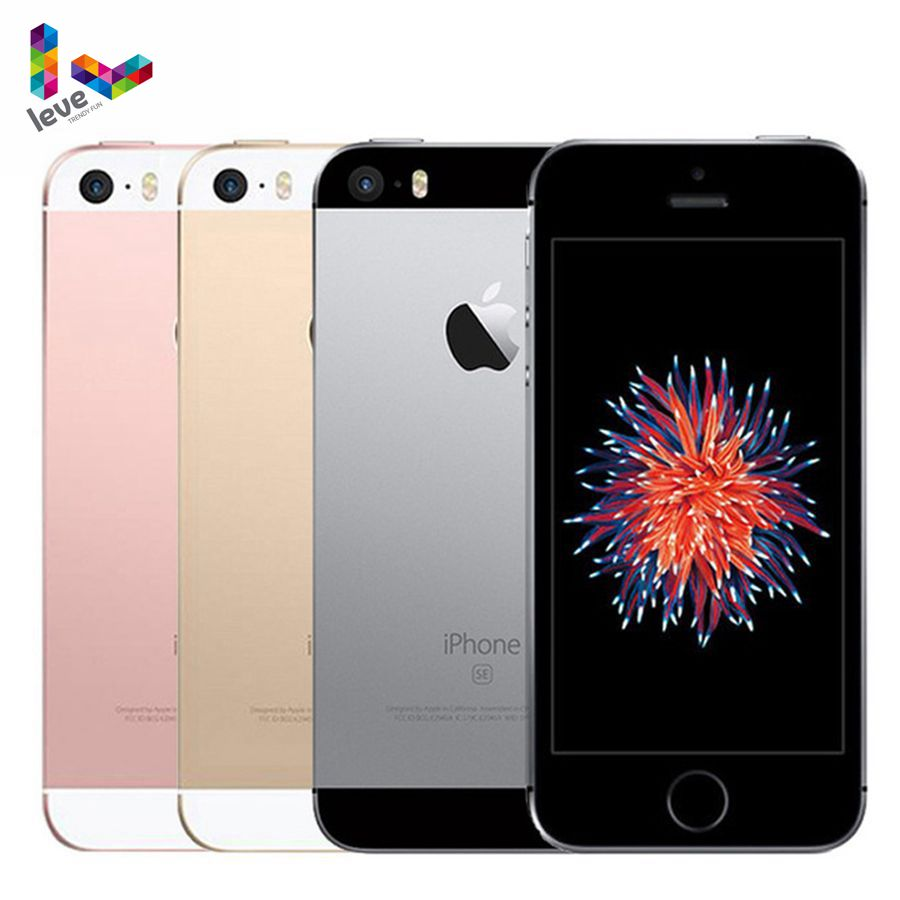 Get Unlocked Apple iPhone SE 12MP 4 inch Fingerprint Dual-core 4G LTE Smartphone 2GB RAM 16/64GB ROM Touch ID Used Mobile Phone
