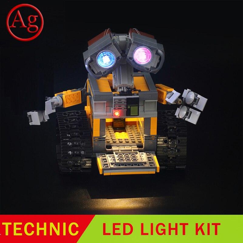 Kit de luz Led Compatible con DIY 21303 16003, Robot Idea, pared E ojos, bloques de luz, juguetes Constructor (no incluye el juego de bloques)
