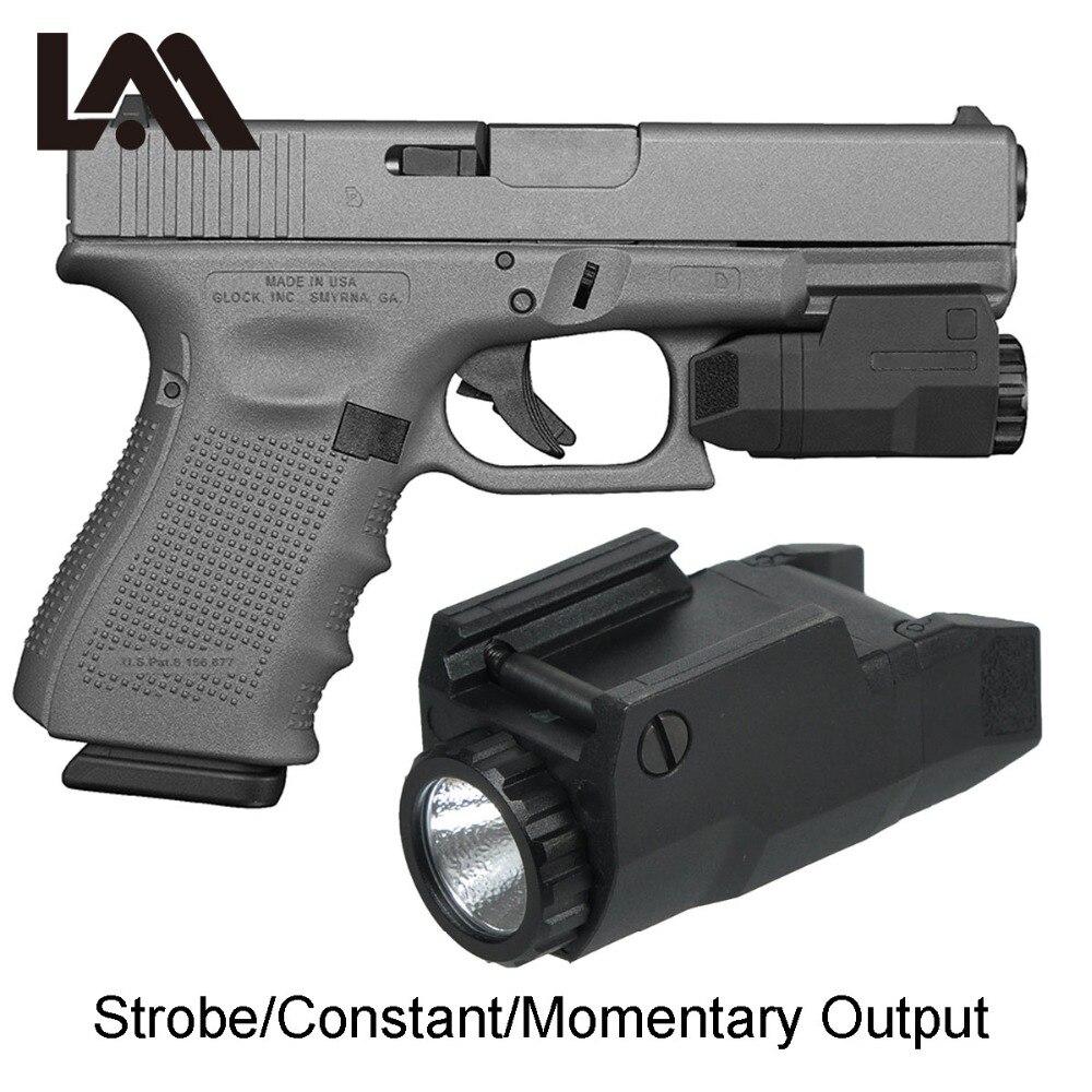 LAMBUL Compact APL Tactical Aple Pistol Light Constant/Momentary/Strobe Flashlight LED White Light F