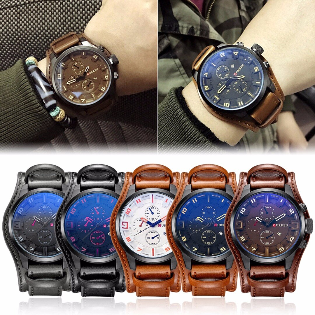 Relojes de moda informales para hombre, relojes de cuarzo de lujo de marca superior, reloj de pulsera resistente al agua con fecha de cuero de imitación, reloj Relogio