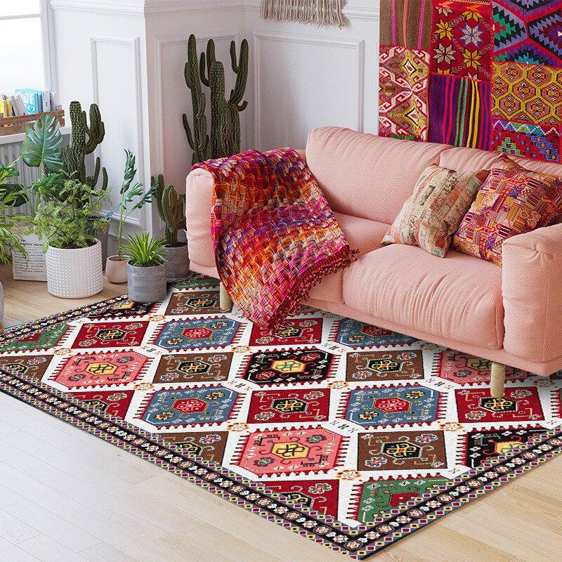 سجادة كلاسيكية على الطراز الفارسي ، سجادة هندسية عرقية ، لغرفة المعيشة ، غرفة النوم ، السرير ، المطبخ ، الحمام