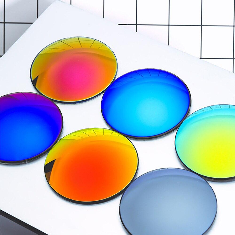KINGSEVEN وصفة طبية سلسلة الأزرق مرآة عدسة 1.56 1.61 1.67 CR-39 الراتنج شبه كروي نظارات العدسات قصر النظر الشيخوخي البصرية عدسة