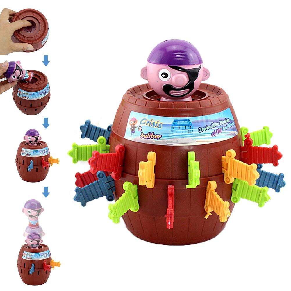 Funny Novelty Kids Children Funny Lucky Game Gadget Jokes Tricky Pirate Barrel Game NTDIZ1040