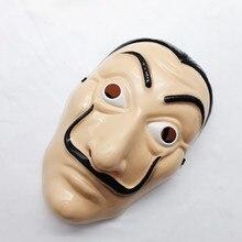 Dali plastique Halloween masque papier maison La Casa De Papel Cosplay décoration mascarade drôle outils drôle masque
