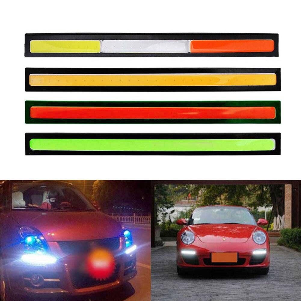 Luces de circulación diurna led COB DRL de 20x17cm, barra DRL, Panel de rayas de aluminio, luces de trabajo para coche, 12V, COB LED