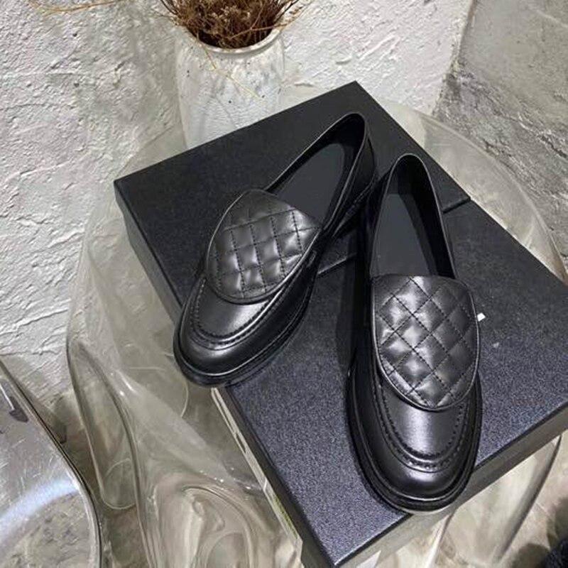 Design da Marca Mulheres Mocassins Primavera Deslizamento-em Sapatos Femininos Moda Couro Casuais 2021